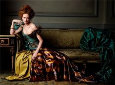 the hair is awful, but the colours, decadence and pose are beautiful beyond belief