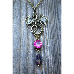 Descendants Mal Necklace Inspired, Maleficent Necklace, Disney... ($13) ❤ liked on Polyvore featuring jewelry and necklaces