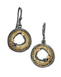 JENNY REEVES - silver gold diamonds gems earrings