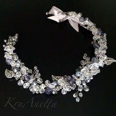 """Купить Украшение в прическу """"Луиза"""" - серебряный, украшение, Украшение ручной работы, украшение для волос, невеста"""