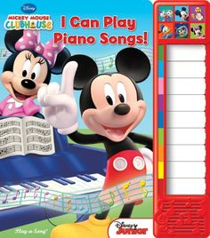 Mickey Mouse Clubhouse: I Can Play Piano Songs!: Piano Sound Book (Little Piano Book) by Editors of Publications International http://www.amazon.com/dp/1450860478 //ref=cm_sw_r_pi_dp_i0nwub06476ZQ / 12