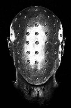 """Avec la série """"Fantasmagorik"""", le graphic designer français Nicolas Obery nous plonge dans un univers monochrome et contrasté, à la limite du steam punk. Un"""