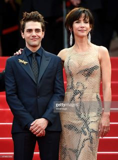 Jury members Xavier Dolan and Sophie Marceau attend the closing ceremony and 'Le Glace Et Le Ciel' Premiere during the 68th annual Cannes Film Festival on May 24, 2015 in Cannes, France.