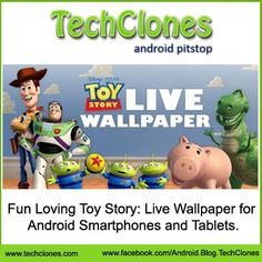 Fun Loving Toy Story: Live Wallpaper for Android Smartphones and Tablets.