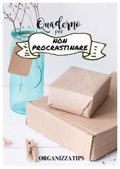 Il quaderno di organizzatips per non procrastinare www.organizzatips.com