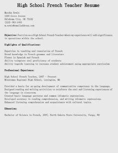 high school teacher resume are really great examples of resume for those who are looking for guidance to fulfilling the recruitment in applying jobs - High School Teacher Resume