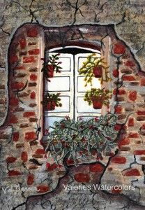 #Beauty After #Destruction #Window #Art #Watercolor #Painting For #Sale