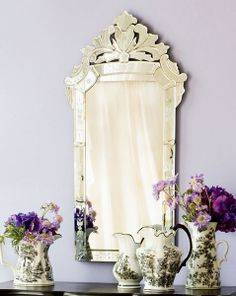 Wisteria - Mirrors & Wall Decor - Mirrors - Venetian Glass Mirror