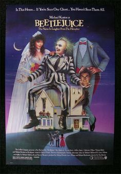 Beetlejuice a film by Tim Burton + MOVIES + Alec Baldwin + Geena Davis + Michael Keaton + Annie McEnroe + Maurice Page + Hugo Stanger + cinema + Comedy + Fantasy 90s Movies, Great Movies, Horror Movies, Movies To Watch, Movies From The 90s, 80s Halloween Movies, 80s Movie Costumes, Awesome Movies, Spooky Halloween