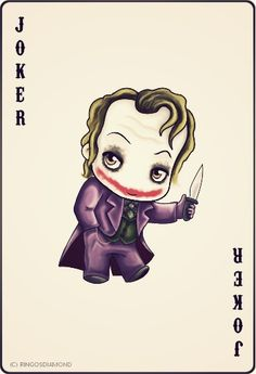 Every set of cards should have a picture like this Joker Heath, Joker Joker, Joker Card Tattoo, I Am Batman, Batman Chibi, Joker Playing Card, Playing Cards, In The Pale Moonlight, Dc Comics
