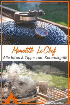"""Der Monolith LeChef: ein Keramikgrill der Extraklasse. Wir haben hier alle wichtigen Informationen und Erfahrungen für dich zusammengefasst.Kamado kommt aus dem japanischen und bedeutet im Prinzip """"Kochstelle aus Ton oder Lehm"""". Sie wurde sowohl zum Backen, Kochen, Grillen und Beheizen der Wohnstätte benutzt. Heute besteht ein Kamado Smoker von Monolith aus Keramik. #grillinfos #kamado #keramikgrill #monolith #grillgerät #grill #smoker Grilling, Outdoor Decor, Home Decor, Side Dish Recipes, New Recipes, Diy Grill, Budget Cooking, Bakken, Best Side Dishes"""