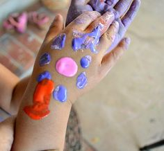 DIY face paint recipe all you need is:  2tsp corn starch 1tsp body lotion/cream 1tsp water Add food coloring