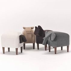 Bring the pasture indoors and give your kids a chance to ride their favorite farm animals with this FrienZoo Stool. Soft materials and removable walnut wood legs go behind the designs which can work as a great playmate in your kids bedroom. Kids Bedroom Furniture, Design Furniture, Furniture For You, Chair Design, Cool Furniture, Furniture Stores, Furniture Market, Furniture Dolly, Modern Furniture