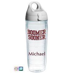 University of Oklahoma Boomer Sooner Personalized Water Bottle
