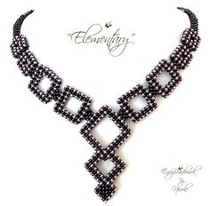 Beading Pattern : Elementary Necklace in English by EnvyBeadwork