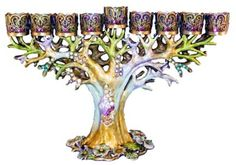 Bejeweled Tree Menorah