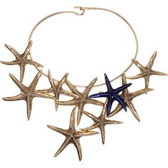e857e85e9fb Bidermann Brass   Enamel Starfish Necklace ( 539) ❤ liked on Polyvore  featuring jewelry