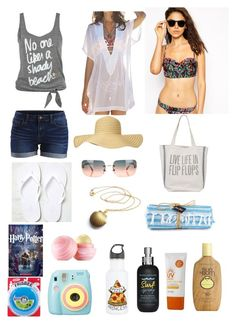 """""""Untitled #192"""" by alwaysafangirl ❤ liked on Polyvore featuring MINKPINK, Vila Milano, American Eagle Outfitters, Dot & Bo, Chanel, Sun Bum, It's skin, Eos, Bumble and bumble and Polaroid"""