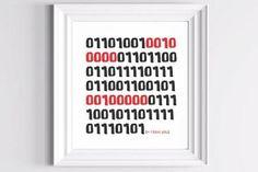 """San Valentino, """"I Love You"""" in codice binario"""