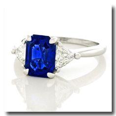 Inv. #17609  Cartier No Heat Burma Sapphire & Diamond Ring Platinum