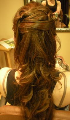 My wedding hair trial at Adagio in Syracuse, NY. Half up half down. Wedding Hair