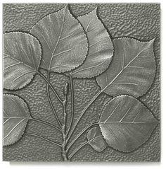 $20 Aspen Leaf Silver/Pewter 8x8