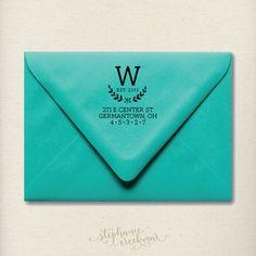 "Personalized 2"" x 2"" Return Address Stamp - Wood Handle - Wedding - Housewarming Gift. $35.00, via Etsy."