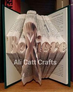 Cancer-Ribbon-believe-Book-folding-pattern