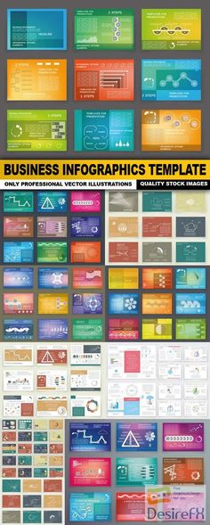 Business Infographics Template - 10 Vector