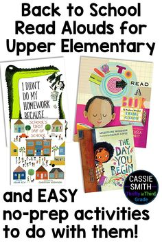 Get back to school read aloud suggestions for upper elementary students. These books are appropriate for third, fourth, and fifth grade students. This article also includes easy no-prep activities you can do with each read aloud! Reading Lesson Plans, Reading Lessons, Guided Math, Guided Reading, Beginning Of The School Year, Back To School, Upper Elementary, Elementary Schools, Christian Robinson