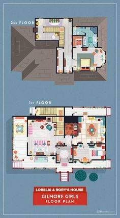 See the Floor Plans for 8 Cult TV Hits | Decorating and Design Blog | HGTV
