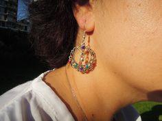 Bohemian Earrings, Boho Jewelry, Boho Earrings, Ethnic boho, gypsy bohemian, drop earrings, summer celebrations, gift ideas for her,hoop by ebrukjewelry on Etsy