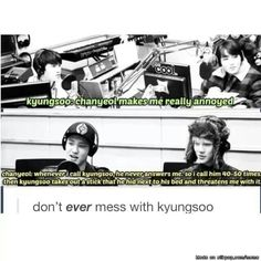 Don't mess with Kyungsoo | allkpop Meme Center