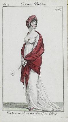 Turban de Brocard. Costume Parisien. c. 1802