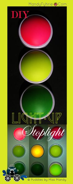 Read this article to determine how to make $4 DIY stoplights with a variety of uses. Teach your kids the rules of the road or for classroom or home management!