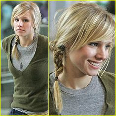 A Cute Hairstyle to Copy from Kristen Bell at LuLus.com!