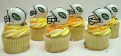 Eagles Birthday Cake Topper Set Featuring Eagles Helmets And Eagles