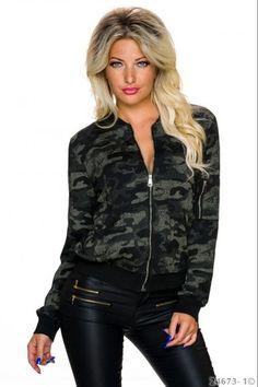Bomber βαμβακερό μπουφάν - Camouflage