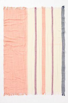 Crinkled-Stripe Throw - Anthropologie.com