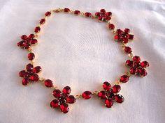 Reproduction Georgian Garnet Floral Necklace by Dames a la Mode on Etsy