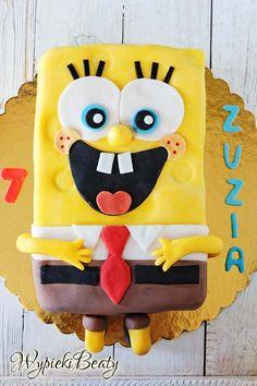 tort spongebob kanciastoporty - spongebob cake