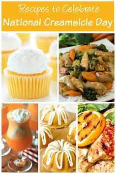 Celebrate National Creamsicle Day with delicious sweet and savory recipes made with oranges, vanilla, or both! See the recipe collection on Basilmomma.com