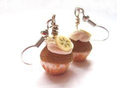 Banana Cupcake Earrings by CandiWareJewelry on Etsy