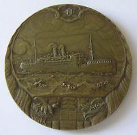 Bronze medal J.C. Wienecke: 50th anniversary Holland Steamship Company, 1920