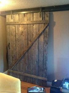 Reclaimed barn wood furniture. Idea for sliding doors in master bedroom for closet and bathroom doors