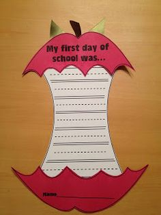 FREE First Day of School Craftivity