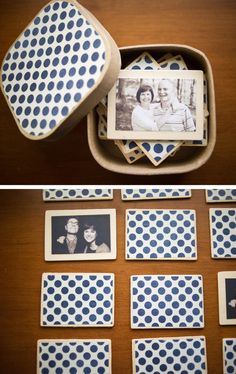 diy matching memory game with family photos