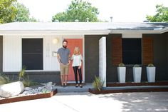My Houzz: Palm Springs Inspiration in Dallas Midcentury furniture mixes with new handmade pieces and local art in a Texas couple's 1961 home Sep 11, 2013 contemporary by Hilary Walker