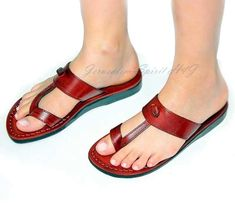 Holyland For Jesus: Online Store Of Christian Gifts From The Holyland Jesus Sandals, Brown Leather Sandals, Feet Soles, Christian Gifts, Huaraches, Flat Sandals, Barefoot, Holy Land, Women Sandals