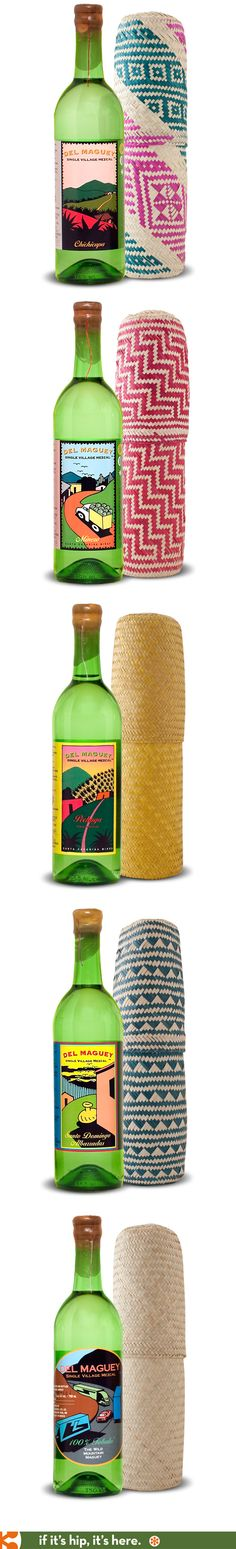 Del Maguey Single Village Mezcals have lovely illustrated labels and come in pretty woven containers.